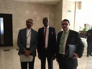 FORUM MAPS Dakar - M. Sharma (Banque Mondiale), M. Niang (ARMP, Sénégal) et M. Bennouna, PDG de SETYM International