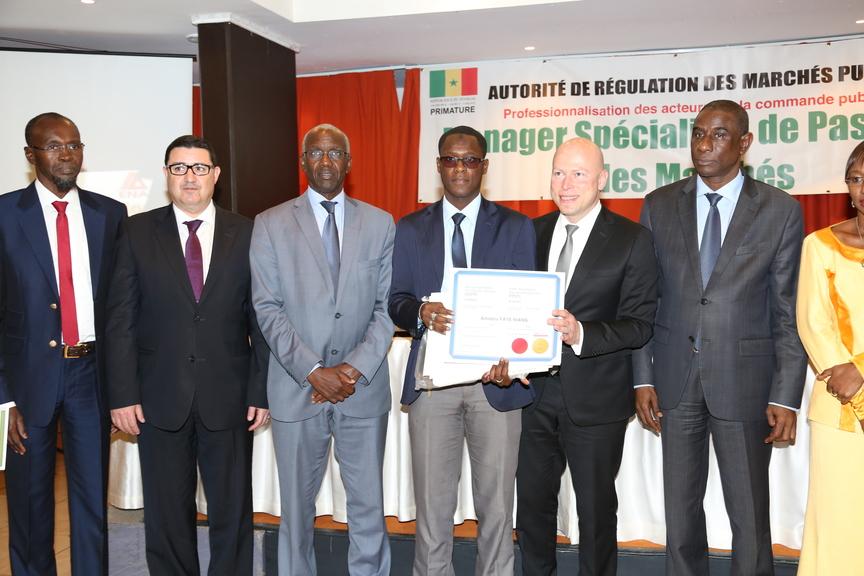 Cérémonie de remise de diplôme Armp Sénégal - Stéphane Pallage