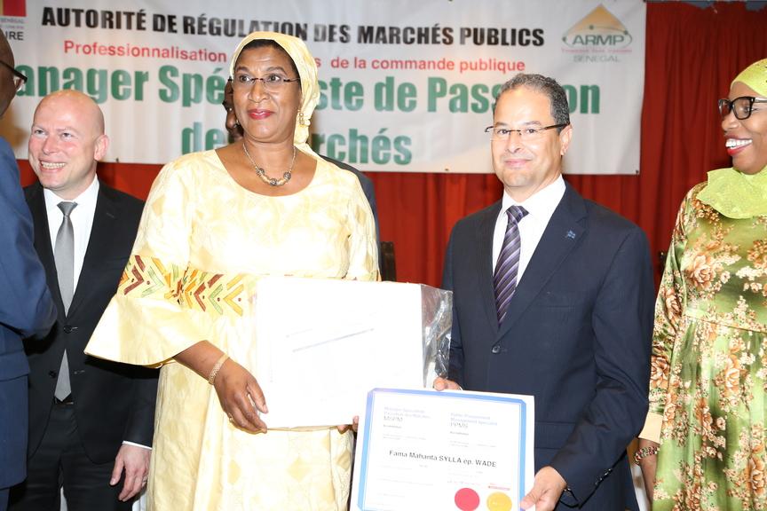 Cérémonie de remise de diplôme Armp Sénégal - Younes Mihoubi