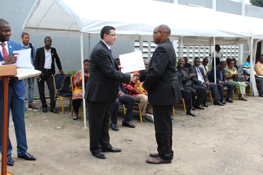 Graduation ceremony at the National Institute of Statistics (DRC) - Diploma