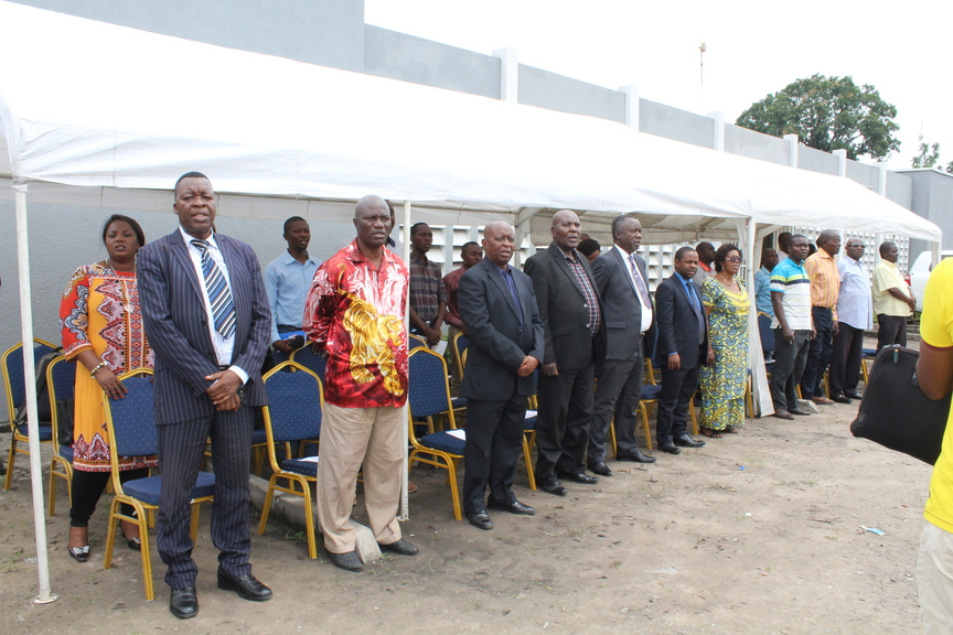 Graduation ceremony at the National Institute of Statistics (DRC) - National Anthemn