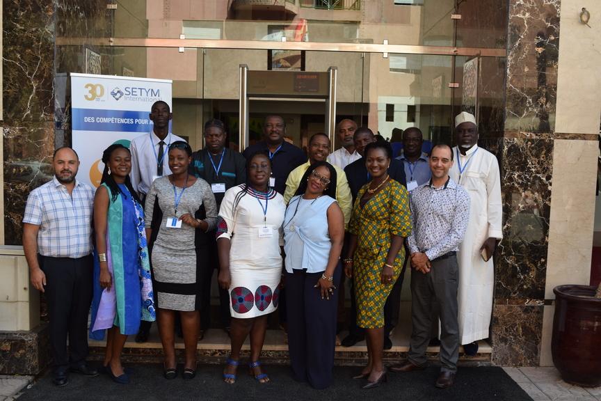 Photo officielle de la formation en évaluation et suivi environnemental et social des projets et programmes à Marrakech