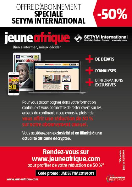 Jeune Afrique - Réduction 50%