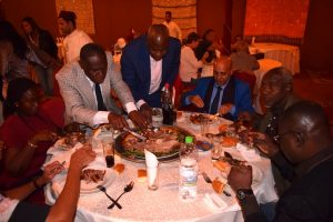 Dinner at the restaurant during the Training Seminar in Projects and Programmes Completion Processes